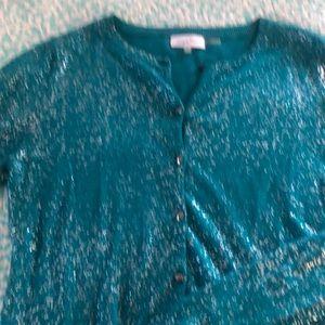 Beautiful blue sparkle sweater